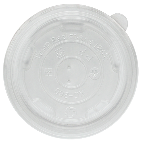 FLAT LID FOR 8OZ FOOD CUP